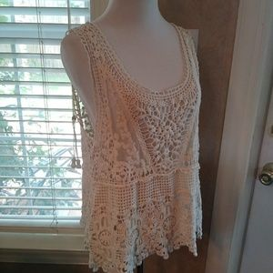 Noelle Crochet Cover Up Tank Top Size S/M